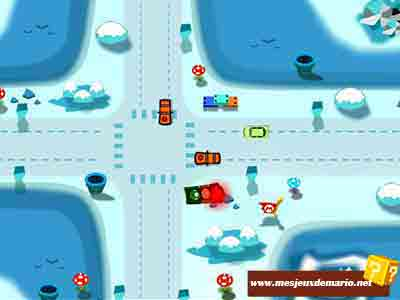 Jeux de mario de régulation du traffic routier