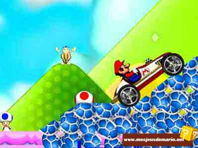 La voiture de cross de mario